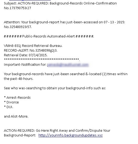 Another example of spam and fraud handy web guy